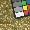 """3.05 Yard Piece of Upholstery Fabric   Abstract Green Chenille with Beige   54"""" Wide"""