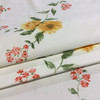 """Vintage Sunflower Floral Yellow / Green / White   Home Decor Fabric   Upholstery / Drapery   54"""" Wide   By the Yard"""