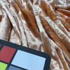 Textured Salmon Striped Faux Fur Low Pile