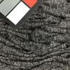 Heather Black Loose Weave Stretch Knit