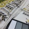Green Fern on Parchment Linen