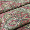"""Paisley Ogee Red / Green    Upholstery Fabric   54"""" Wide   By the Yard"""