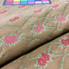 """Vintage Rose Lattice Brown / Green / Red    Upholstery Fabric   54"""" Wide   By the Yard"""