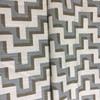 """HGTV Jigsaw Geometric Gray / Taupe / Off White   Home Decor Fabric   Upholstery / Drapery   54"""" Wide   By the Yard"""