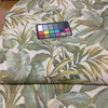 """Leaf Fronds in Green / Beige   Upholstery Fabric   54"""" Wide   By the Yard"""