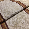 """Damask Stripes Off White / Red   Upholstery Fabric   54"""" Wide   By the Yard"""
