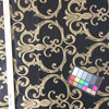 """Scrollwork in Black / Tan   Upholstery Fabric   54"""" Wide   By the Yard"""