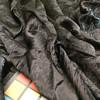Black Crushed Satin