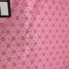 Solid Pink Floral Texture Stretch Mesh