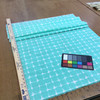 """Turquoise Shibori Grid 