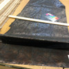 """Floral Paisley Bronze / Black   Vinyl Fabric   Upholstery / Bags   54"""" Wide   By the Yard"""