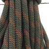 13.8 Yard Piece of Safety Rope   11 mm   Army Green with Red   By the Piece   Remnant