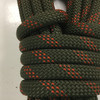 10.8 Yard Piece of Safety Rope | 11 mm | Army Green with Red | By the Piece | Remnant