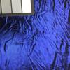 Metallic Iridescent Blue Stretch Jersey Knit Fabric | By the Yard | 2 Way Stretch