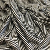 Black/Gray Pinstripe Jersey Knit Fabric | By The Yard | 60 inch Wide