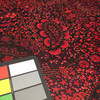 Black and Red Paisley Floral Polyester Knit Jersey Print Fabric | By the Yard