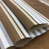 "Stripes in Brown / Beige / Grey   Butera Stripes in Peca by BELLA-DURA   Latex Backed   Indoor / Outdoor Fabric   WATER RESISTANT   54"" Wide   BTY"