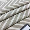 "Chevron Beige and Off White | Heraldry by BELLA-DURA | Indoor / Outdoor Fabric | WATER RESISTANT | 54"" Wide | BTY"