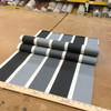 """Stripes in Gray / Black / Off White   Isleworth Stripe in Smoke by BELLA-DURA   Indoor / Outdoor Fabric   WATER RESISTANT   54"""" Wide   BTY"""