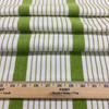 """Citron Green and White Stripes   Porter Stripes in Lime by BELLA-DURA   Latex Backed   Indoor / Outdoor Fabric   WATER RESISTANT   54"""" Wide   BTY"""