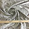 "6.3 Yard Piece of Drapery Fabric | Light Taupe Paisley | 54"" Wide"