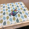 """Modern Leaves Blue / Green on Off White   Delray Sea by Regal   Upholstery / Slipcover Fabric   54"""" Wide   By the Yard"""