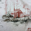 """Lakeside Sunset   Red / Gray   Upholstery Fabric   Regal Fabrics   54"""" Wide   By the Yard"""