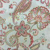 """Floral with Butterflies   Red / Beige   Mikayla Coral by Regal Fabrics   Upholstery Fabric   54"""" Wide   By the Yard"""