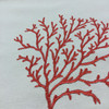 """Red Embroidered Coral 