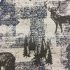 """Deer / Bear Tapestry Brown / Blue / Beige 