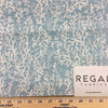 """Nautical Coral Off White / Aqua Blue   Liza Bahama by Regal   Upholstery / Slipcover Fabric   54"""" Wide   By the Yard"""