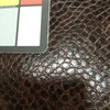 """Brown Reptile Faux Leather 