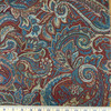 """Paisley Red / Blue / Beige    Kopen Lapis by Regal   Upholstery / Slipcover Fabric   54"""" Wide   By the Yard"""