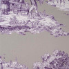 2.8 Yard Piece of Toile Fabric By Duralee 20989-241 Wisteria Cotton Sateen Toile Fabric | Purple