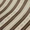 4.8 Yard Piece of Brown and Tan Floral Fabric Ribbon Stripe Upholstery Drapery By The Yard 5
