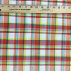 """Bright Plaid in Red / Orange / Green / Yellow   Drapery / Slipcover Fabric   54"""" Wide   By the Yard"""
