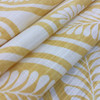 """Modern Yellow Leaves   Home Decor Fabric   54"""" Wide   By the Yard"""