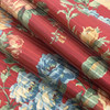 """Semi-Sheer Antique Striped Floral 