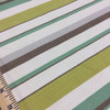 """Thick and Thin Stripes Green / Brown / Off White   Drapery / Slipcover Fabric   54"""" Wide   By the Yard"""