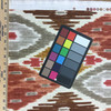 """Modern Ikat   Red / Brown / Off White   Home Decor Fabric   54"""" Wide   By the Yard"""