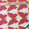 """Modern Butterflies   Pink / Yellow   Home Decor Fabric   54"""" Wide   By the Yard"""
