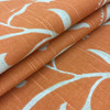 """Large Scale Stenciled Floral   Orange / Off-White   Home Decor Fabric   54"""" Wide   By the Yard"""