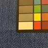 "Sky Blue Velvet Herringbone | Upholstery Fabric | 54"" Wide | By the Yard"