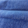 "Royal Blue Velvet Herringbone   Upholstery Fabric   54"" Wide   By the Yard"