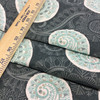 """4.5 Yard Piece of Home Decor Fabric   Modern Paisley Gray / Blue / White   Upholstery / Drapery   54"""" Wide"""