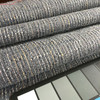 """Variegated Slub Weave   Blue / Gray / White   Heavy Upholstery Fabric   54"""" Wide   By the Yard"""