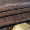 """Dark Brown Chevron Plush Velvet 