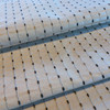 """Dotted Stripes in Off White with Beige and Gray 