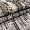 1 Yard Piece of Variegated Brown / Beige / Black   Heavy Upholstery Fabric   54 Wide   By the Yard