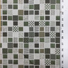 """3 Yard Piece of Contemporary Grid   Green / White   Upholstery / Drapery Fabric   54"""" Wide   By the Yard"""